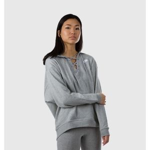 Nike Sportswear Club Lace Up Pullover Hoodie Top